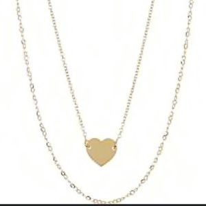 Argento Vivo Metallic Double Layer Heart Pendant